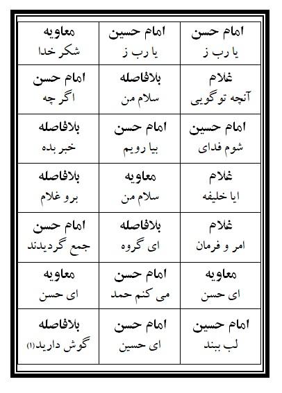 فهرست نسخه تعزیه امام حسن (ع) فروشگاه طنین تعزیه قودجان خوانسار