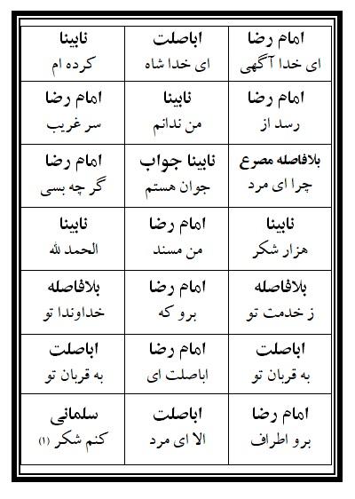 فهرست نسخه تعزیه امام رضا (ع) فروشگاه طنین تعزیه قودجان خوانسار