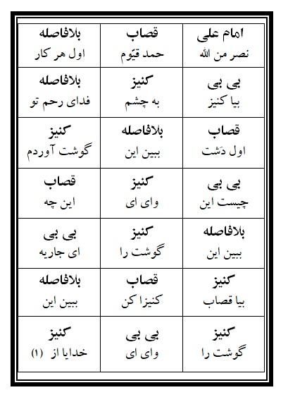 فهرست نسخه تعزیه امام علی (ع) فروشگاه طنین تعزیه قودجان خوانسار