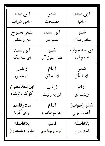 فهرست نسخه تعزیه قاسم (ع) فروشگاه طنین تعزیه قودجان خوانسار