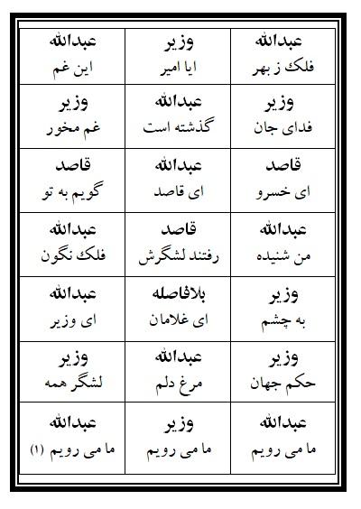 فهرست نسخه تعزیه وداع شهربانو و غارت خیمه ها فروشگاه طنین تعزیه قودجان خوانسار